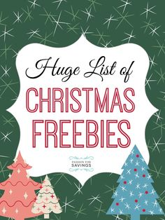 Here are some Christmas Freebies you will want to check out to make your Christmas Season even more memorable! Also, be sure to check out our awesome list of Free Christmas Printables that you can use right now!