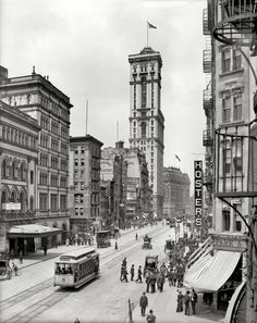 "Broadway and the building of ""The Times"",  New York, 1915."