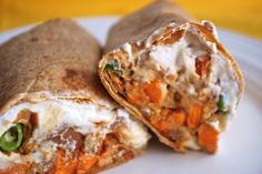 The recipe is a Chipotle sweet potato wrap, but I feel like this could be wayyy yummy as a Thai sweet potato wrap, swapping out the chipotle and replacing it with curry.