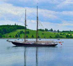Bluenose 2 in Lunenburg, Nova Scotia Train Travel, Train Trip, Nova Scotia Tourism, Sailing Ships, Sailing Yachts, Atlantic Canada, Wood Boats, Yacht Design, Places To Visit