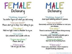 Funny Boys vs Girls/Man vs Women Dictionary Quotes and Sayings