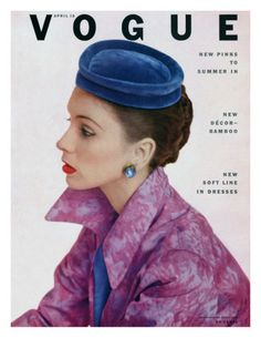 Vogue Cover - April 15 1952 Poster Print by John Rawlings at the Condé Nast Collection