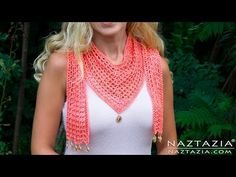 Very Easy How to Finger Crochet a Beginner Infinity Scarf by Donna Wolfe from Naztazia