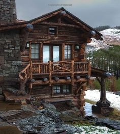 Rustic Log Cabin Homes Log Cabin Living, Log Cabin Homes, Log Cabins, Little Cabin, Mountain Homes, Bear Mountain, Mountain Living, Cabins And Cottages, Cozy Cabin