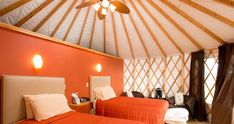 """Nomad Ridge at The Wilds (Cumberland) and 9 other Ohio """"glamping"""" sites What Is A Yurt, Ohio Is For Lovers, Asian Inspired Decor, Go Glamping, Tent Camping, Romantic Weekend Getaways, Stay Overnight, Places To Go, Relax"""