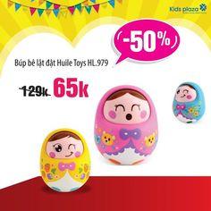 #Khuyenmai_KidsPlazaHN  💢 GIẢM ĐẾN 50% NHANH NHANH KẺO LỠ  💝 BÚP BÊ LẬT ĐẬT HUILE TOYS HL979 - SẢN PHẨM ĐƯỢC CÁC MẸ SĂN LÙNG NHIỀU NHẤT  🌺 Mẹ đang muốn tìm cho bé một món quà thật ĐÁNG YÊU, NGỘ NGHĨNH  🌺 Để tạo cho bé một BẤT NGỜ thú vị  🌺 Đảm bảo đó là một sản phẩm phải tuyệt đối AN TOÀN  👆 BÚP BÊ Huile Toys sẽ là một LỰA CHỌN vô cùng tuyệt vời dành cho các bé  ☑️ Với kiểu dáng lật đật đáng yêu  ☑️ Thiết kế an toàn, không góc cạnh mẹ tuyệt đối an tâm khi bé cầm nắm  ☑️ Nhiều họa tiết…