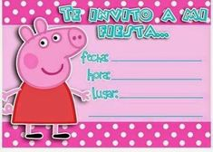 Invitacion Peppa Pig, Cumple Peppa Pig, Golden Birthday, Pig Party, Hello Kitty, Baby Shower, Birthday Parties, Google, Arya