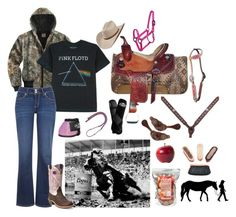 """""""MissRunning"""" by horsy45 ❤ liked on Polyvore featuring Carhartt, Floyd, Levi's, Ariat and WALL"""
