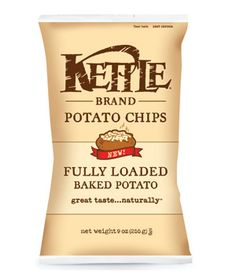 Kettle Brand Fully Loaded Baked Potato Chips #Chips #Dips #Salsa #Potato #Kettle #Corn #Rice