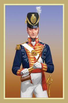 Royal Artillery Lieutenant Waterloo 1815, Battle Of Waterloo, British Soldier, British Army, Commonwealth, Military Art, Military History, British Uniforms, Royal Engineers