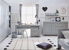 Šedá komoda se 3 zásuvkami a 1 dveřmi Pinio Calmo Kids Furniture Sets, Modern Kids Furniture, Nursery Furniture Sets, Nursery Decor, Tapestry Bedroom, Grey Room, Thing 1, Cot Bedding, Scandinavian Design