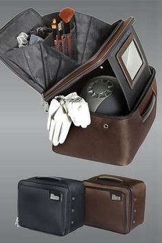 "Helmet case lol has make up compartment when you are squeezing in a quick ride before you ""go out"""