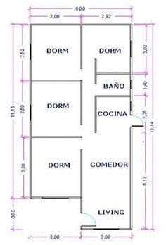 Steel framing oferta 36m2 una vivienda de alta for Ver planos de casas de un piso