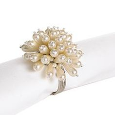 Pearl cluster napkin ring. I need to finish off my set.