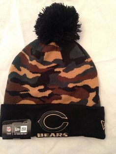 9fb07cd3952 NFL Chicago Bears Camo Winter Knit Hat with Pom