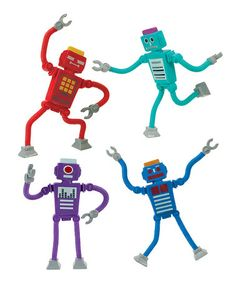 Look at this #zulilyfind! Robot Invader Toy - Set of Four #zulilyfinds