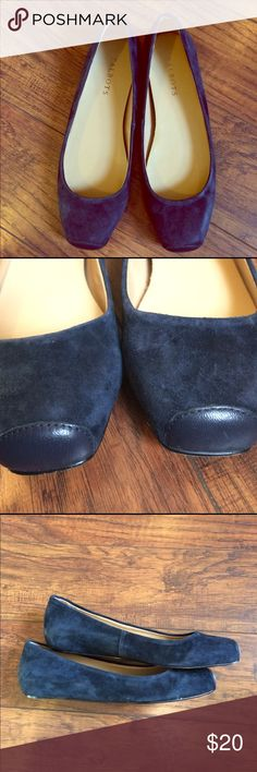 Navy Suede Flats Navy suede flats from talbots. Very comfortable and in pristine condition, reposhing as they are way too big for me. Talbots Shoes Flats & Loafers
