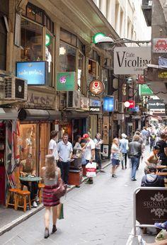 Melbourne Victoria Australia. Centre Place/Degraves St. City