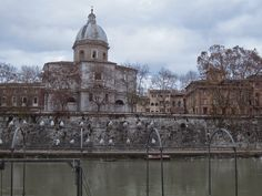 St. Luigi dei Fiorentini and the river Tiber in Rome
