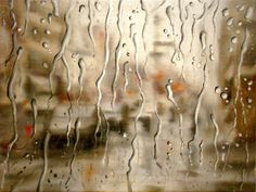 """Rainy Windshield Paintings on Canvas as seen through car windshields. The author-Francis McCrory, says: """"On rainy days, I like to observe the world through Oil Painting On Canvas, Painting & Drawing, Rain Window, Illusion, Walking In The Rain, Art For Art Sake, Realism Art, Stone Carving, Artist At Work"""