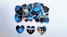 Tartan card heart buttons by tartangiftcompany on Etsy