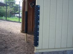 Run in shelters are the most common place to mount Itchin' Post...Prevent damage or injuries to your horses by using these horse grooming pads.