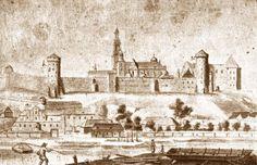 Przedmieścia Krakowa. Wawel i osiedle Rybaki od strony Skałki