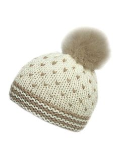 Hat Knitting Kit: British wool yarn and hat knitting pattern