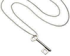 Silver Key Pendant by Vicky Davies