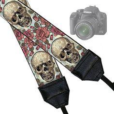 Camera Neck Strap Dslr Camera Strap Slr by janinekingdesigns