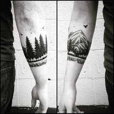 arm tattoo armband forest maybe next idea