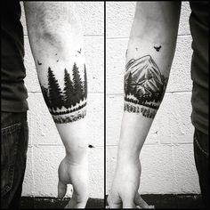arm tattoo armband forest maybe next idea