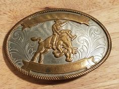 Vintage 1970's Nickel Silver Bull Riding All Around Cowboy Western Belt Buckle  | Collectibles, Cultures & Ethnicities, Western Americana | eBay!