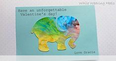 fingerprint painting valentines...