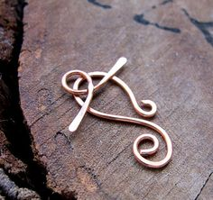 Copper Toggle Clasp 1 inch Solid Copper Hand by NadinArtGlass, $3.70