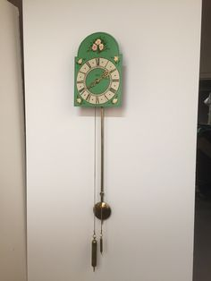 This clock, one of only four known surviving Lepp clocks, was made in 1843 by Peter Lepp in the Chortitza Colony, Russia (now Ukraine). Peter Lepp trained Gerhard Hamm as a clockmaker, who in turn trained Kornelius Hildebrand. The Mandtler family of the Molotschna Colony were also clockmakers.  1843 Lepp Clock hung for a photo shoot.