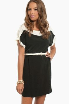 Just bought this! Can't wait for it to get hereee - Sierra Belted Shift Dress $54 at www.tobi.com