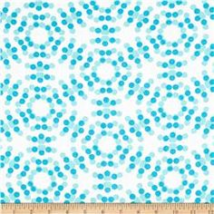 "108"" Spot On Quilt Backs Circle Dots Turquoise"