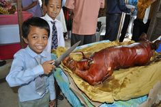 While pig roasts occur year round, in some countries they are the main holiday dish at Christmas. In the Philippines, the pig may be stuffed with spices and roasted on a bamboo spit over hot coals. In Puerto Rico, the unfortunate holiday swine is prepared with a wet seasoning, adobo mojado, that contains crushed garlic, black pepper, salt, olive oil and wine vinegar. Photo: whologwhy