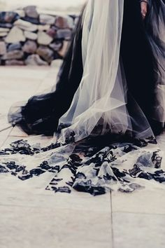 Black Wedding Gown from Vera Wang