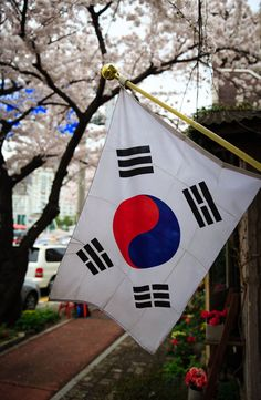 Seoul is one of the most popular, amazing and must-see travel destinations in the Far East. So let's check several places you should visit in Seoul. South Korea Flag, Busan South Korea, South Korea Travel, Seoul Korea, Korea Country, Korea Wallpaper, Korean Flag, Aesthetic Korea, Tokyo