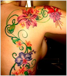 orchid tattoo design (14)