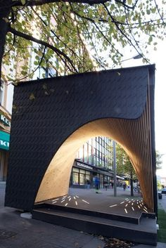Pauhu Pavilion Constructed for Tampere Architecture Week in Finland,Courtesy of Tampere Architecture Week