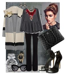 """""""CECE"""" by gigiwhoot ❤ liked on Polyvore featuring Victoria's Secret, Vince, Alexander McQueen, MANGO, Chanel, Karen Walker, Lulu Frost, Versace, WithChic and Bling Jewelry"""