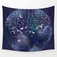 Sun and Moon tapestry, Bohemian tapestry, hippie tapestry, galaxy tapestry…