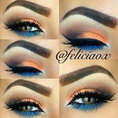 Orange, blue and brown MUI