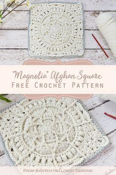Crochet Blocks, Granny Square Crochet Pattern, Afghan Crochet Patterns, Crochet Granny, Crochet Motif, Crochet Stitches, Crochet Cushions, Crochet Pillow, Free Crochet Square