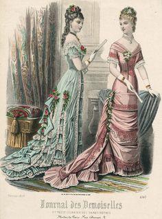 France, February 1878, Journal des Demoiselles et Petit Courrier des Dames Réunis