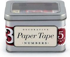 $17.95 Cavallini Numbers Paper Tape
