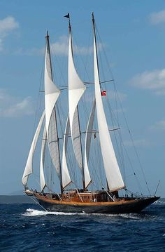 Creole, Charles Nicholson's 1927 schooner. Largest wooden sailing yacht in the world at 214'.